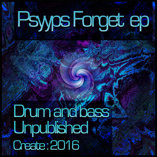 Cover Psyyps forget ep drum and bass artwork